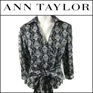🆕️NWT. ANN TAYLOR Wrap Around Tie Blouse/Top!